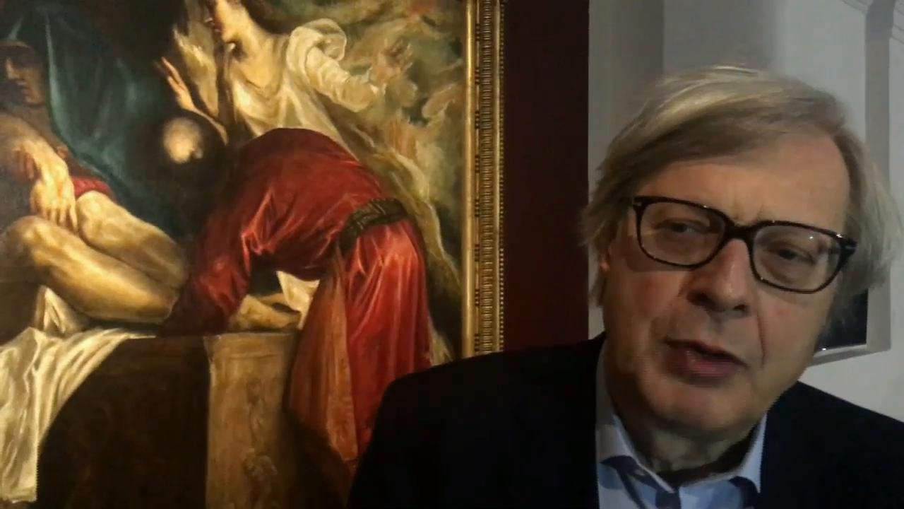 Vittorio Sgarbi e Tiziano  Forte di Bard 2017